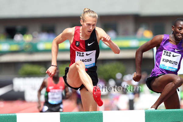 Jager battles Kipruto to the finish at Pre