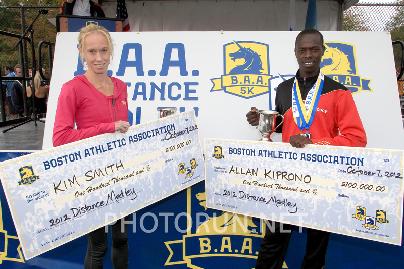 Kiprono 100K Check at 2012 BAA Half