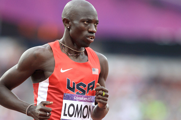 Lopez Lomong competes in the 2012 Olympics. He hopes to make another U.S. team at this weekend's indoor national championships. Photo by PhotoRun.