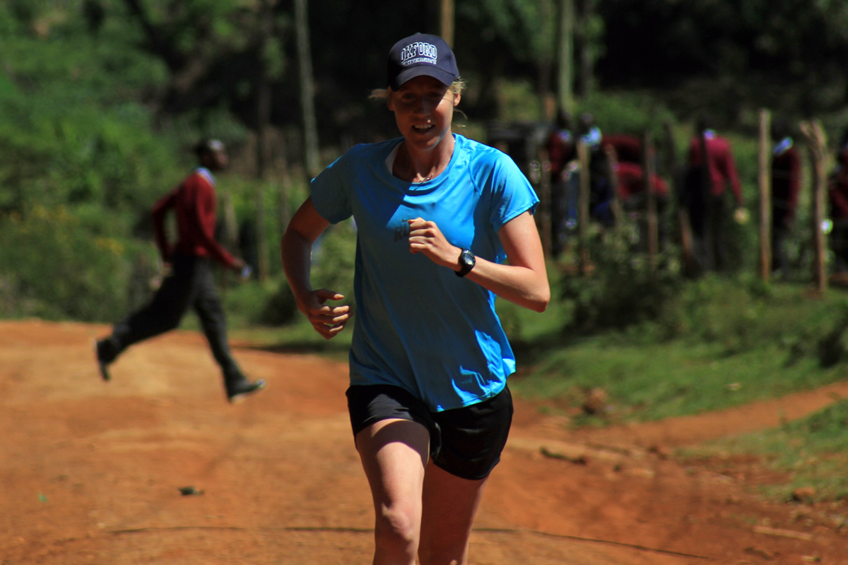 Michelle Passing Schoolboys in Iten