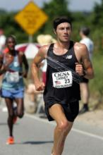 James Carney at the Falmouth Road Race (photo courtesy of Victah Sailer)