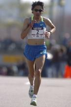 Elva in the 2008 Olympic Marathon Trials.