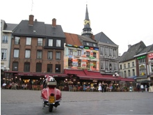 Town Square in Hasselt, Belgium, which borders Heusden.