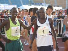 Laban and Charles before the race