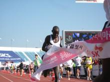 Charles finished second, just one second back, at the 2007 Gyeongju International Marathon