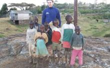 Our correspondent and some of his new rafikis (friends).
